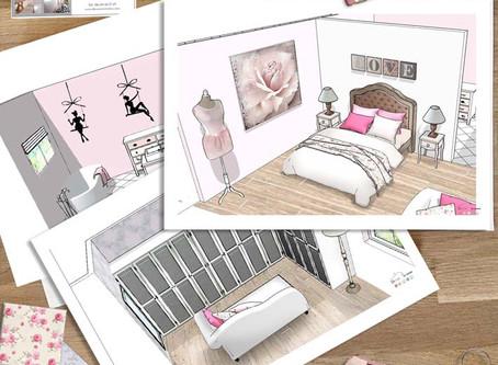 Chambre style boudoir