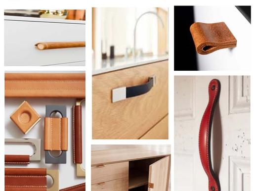 Poignées en cuir pour meubles