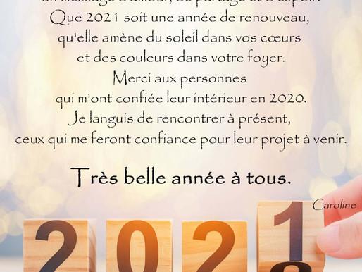 Je vous présente mes vœux 2021