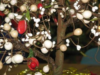 Réalisation d'un arbre en dragées et bonbons