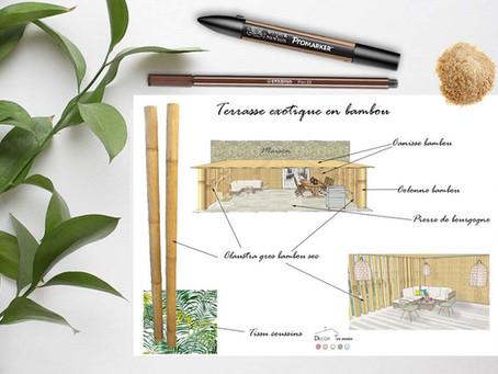 Terrasse exotique en bambou