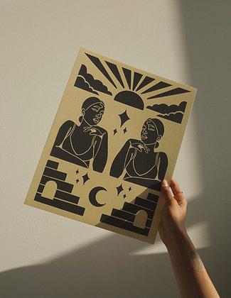 'Tessellate' Art Print