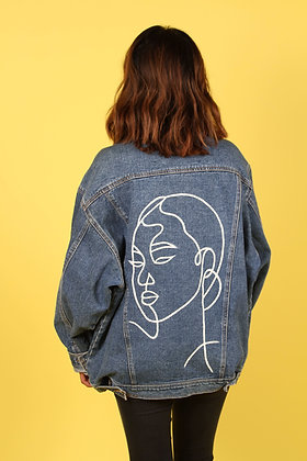 Denim Jacket Accent Collar