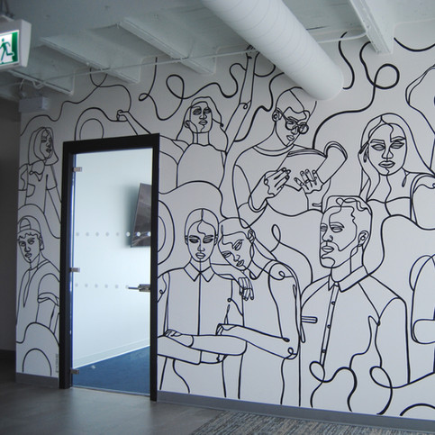 Him&Her Office Mural
