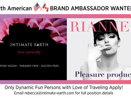 The Official Brand Ambassador Search For Intimate Earth and Rianne S