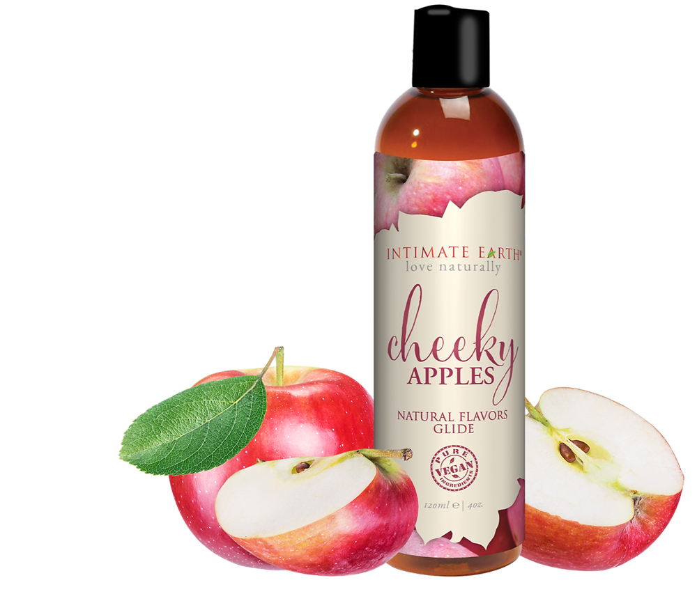 INTIMATE EARTH CHEEKY APPLES NATURAL FLAVORS GLIDE