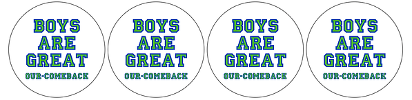 Boys Are Great sticker 20-up O-C with ci