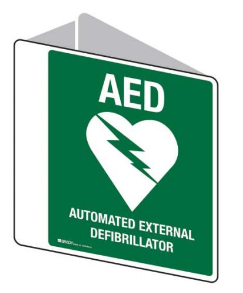 Emergency Information Sign - AED