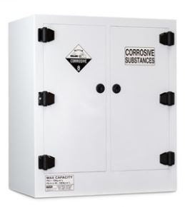 Poly Corrosive Cabinet 160LTR, 2 Door, 4 Shelf
