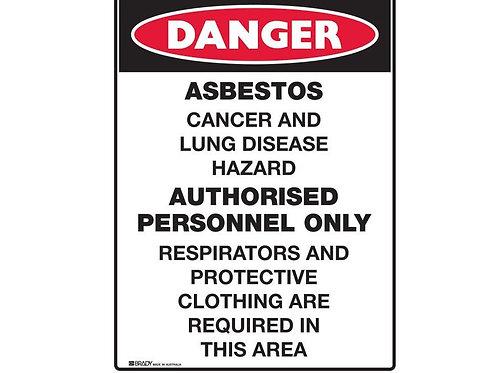 Asbestos Sign - Asbestos Cancer and Lung Disease Hazard  450x600mm