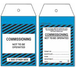 Commissioning Tag – STA007