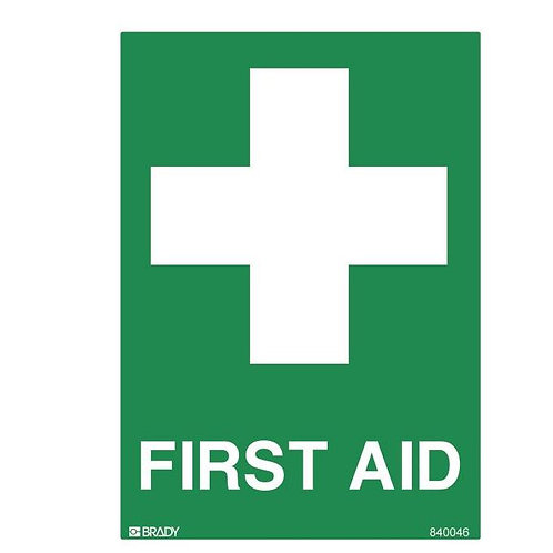 Small Stick On Labels - First Aid (Self Adhesive Vinyl) H125mm x W90mm