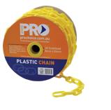 8mm YELLOW plastic chain - Length 25 Metres per Roll
