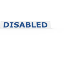 Wheel Stop Sign - DISABLED
