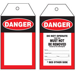 Blank Danger Tag – STA003