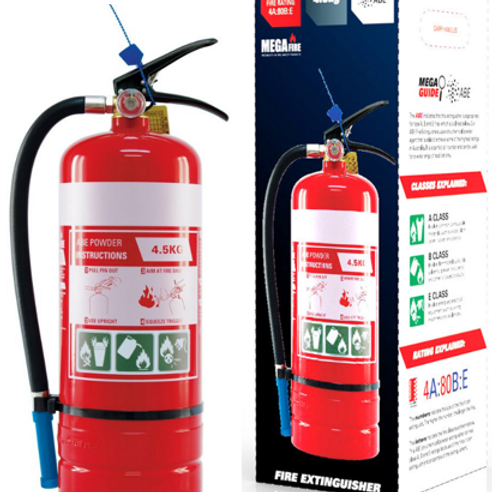 MF45ABE—MegaFire- 4.5kg ABE Portable Fire Extinguisher