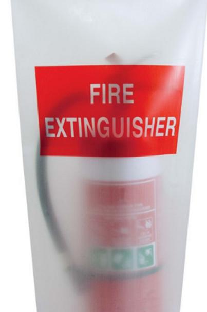 MFUVS—MegaFire- 4.5kg Fire Extinguisher UV Treated Vinyl Bag