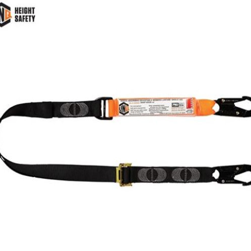 Elite Single Leg Shock Absorbing 2M Adjustable Lanyard with Hardware SN X2