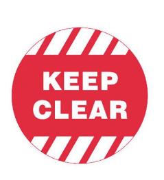Floor Sign - Floor Sign Keep Clear