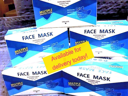 Disposable Face Mask 3Ply Ear-Loops