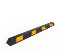 Rubber Wheel Stop 1650mm - Black/Yellow
