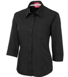 Ladies Contrast Placket 3/4 Shirt