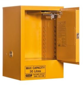 Flammable Storage Cabinet 30L 1 Door, 1 Shelf