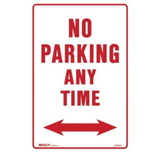 Parking & No Parking Sign - No Parking Any Time Arrow Both Ways