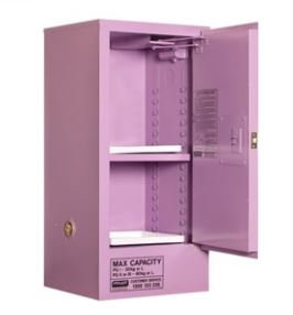 Corrosive Storage Cabinet 60L 1 Door, 2 Shelf