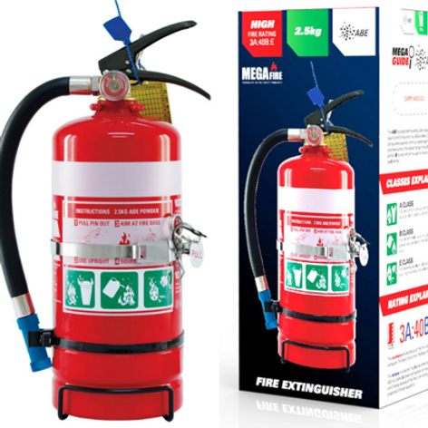 MF25ABE—MegaFire- 2.5kg ABE Portable Fire Extinguisher