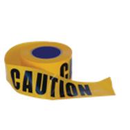 """""""CAUTION"""" on Yellow Hazard Tape"""