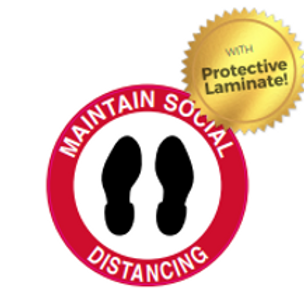 Floor Sign Protective Laminate - Maintain Social Distance