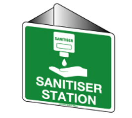 Sanitiser Station Off the Wall Poly
