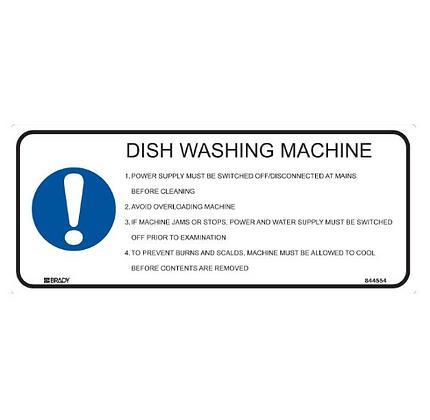 Kitchen/Food Safety Sign - Dish Washing Machine