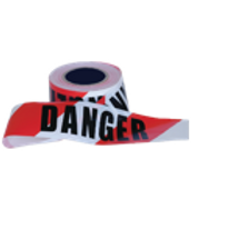 """""""DANGER"""" on Red/White Hazard Tape"""