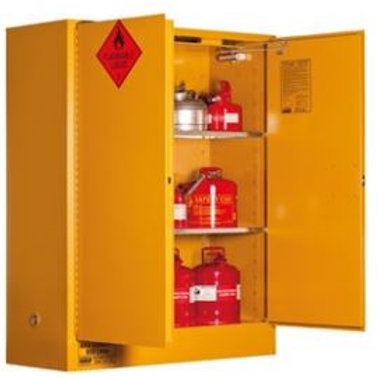 Flammable Storage Cabinet 350L 2 Door, 3 Shelf