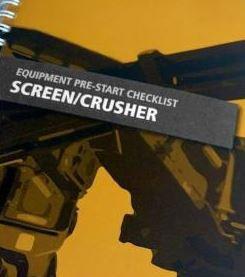 Pre-Start—Screen/Crusher