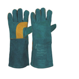 SOUTH PAW Green & Gold Pair of Left Hands Kevlar Stitched