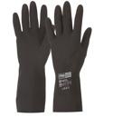 Chemical Resistant Gloves Black Neoprene Heavy Duty
