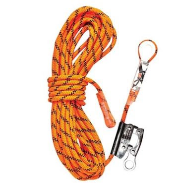 Kernmantle Rope with Thimble Eye & Rope Grab 40M
