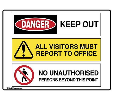 Multiple Message Sign - Keep Out