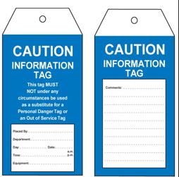Caution Information Tag – STA005