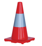 Orange Traffic Cone with Reflective Strip 700MM