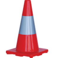 Orange Traffic Cone with Reflective Strip 700MM