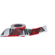 """DANGER DO NOT ENTER"" on Red/White Hazard Tape"