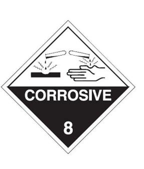 Dangerous Goods Labels - Corrosive 8
