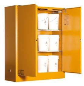 Toxic Storage Cabinet 250L XL 2 Door, 3 Shelf