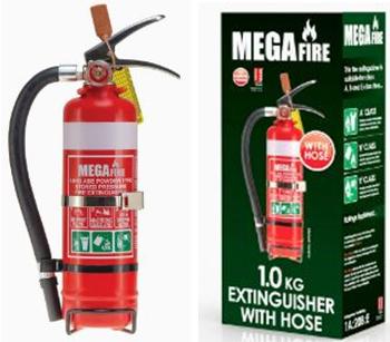 1.0kg ABE Portable Fire Extinguisher - Hose