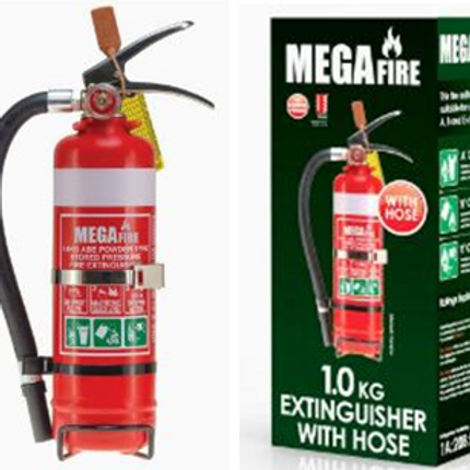 1.0kg ABE Portable Fire Extinguisher - Hose