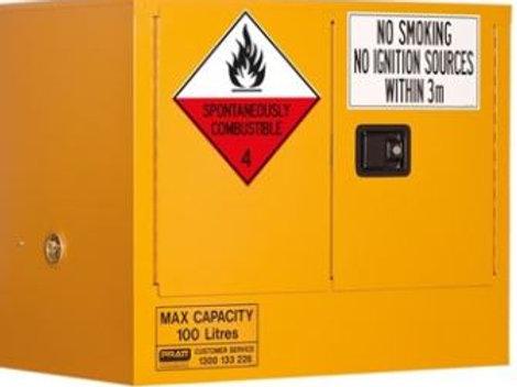 Class 4 Dangerous Goods Storage Cabinet 100L 2 Door,1 Shelf